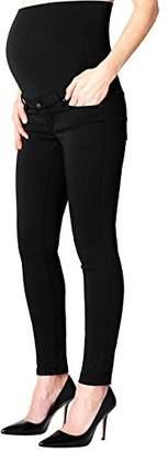 Noppies Women's Pants OTB Slim Bailey 4 Maternity Trousers, (Black), (Herstellergröße: XL)