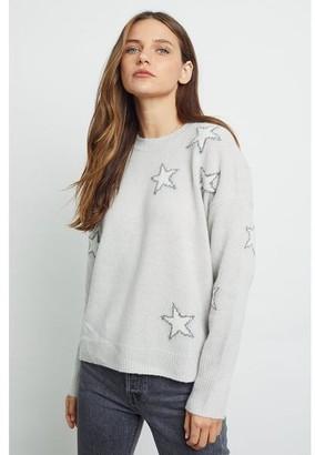 Rails Virgo Wool Blend Pullover Grey White Stars - M