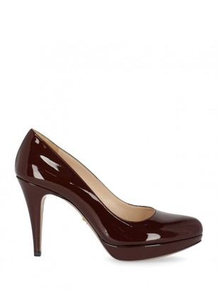 Prada Burgundy Patent leather Heels