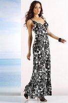 Crossover V-Neck Floral Maxi Dress