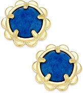 Kate Spade Gold-Tone Round Stone Scallop Edged Stud Earrings