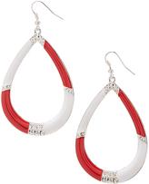Carole Red & White Tear Drop Earring