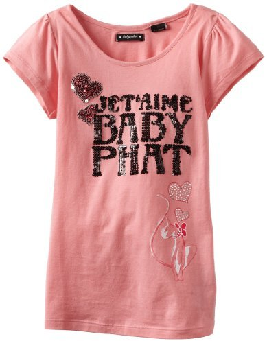 Baby Phat Kids Girls 7-16 Sequins Print Tee
