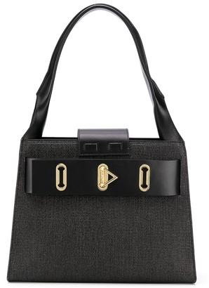 Salar Vicky Straw large tote
