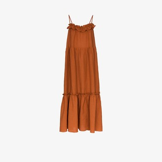 Araks Yasmin tiered linen maxi dress