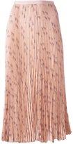 Valentino triangle print pleated skirt - women - Silk - 42