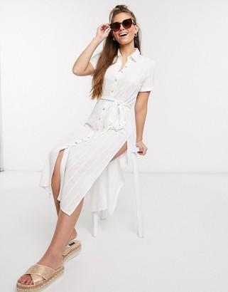 Skylar Rose midi dress with thigh splits in white