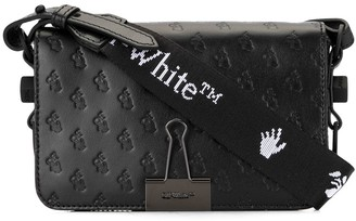 Off-White Debossed Logo Flap Mini Bag