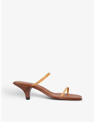 Neous Vulpe square-toe leather heeled sandals