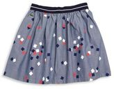 Lacoste Little Girl's & Girl's Chambray Printed A-Line Skirt