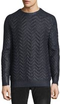 Just Cavalli Coated Knit Sweater, Navy