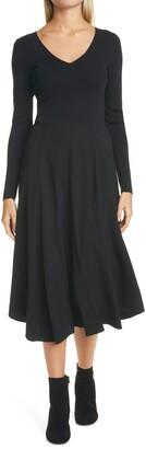 Vince V-Neck Long Sleeve Dress