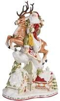 Fitz & Floyd Hand Painted Damask Holiday Santa Figurine