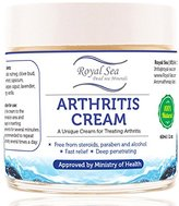 Best Natural Arthritis Joint Pain Relief Cream By Royal Dead Sea [2.02oz] Therapy for Feet, Hand, Neck, Back, Shoulder, Hand, Knee, Foot, Toes, Inflammation Treatment Relieve. Pure Essential oils