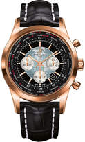Breitling RB0510U4.BB63.761P Transocean Unitime 18ct rose-gold and alligator-leather watch