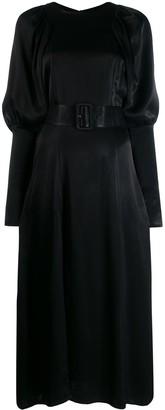 Rotate by Birger Christensen Belted Midi Dress
