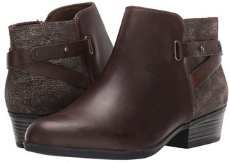 Clarks Addiy Gladys (Black Leather) Women's Boots