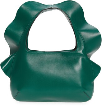 Valentino Small Atelier Rouches 04 Edition Ruffle Leather Hobo