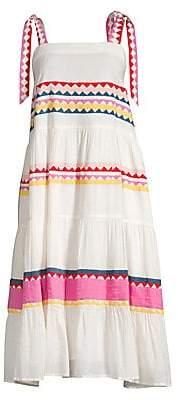 Carolina K. Women's Iris Boho Print Midi Dress