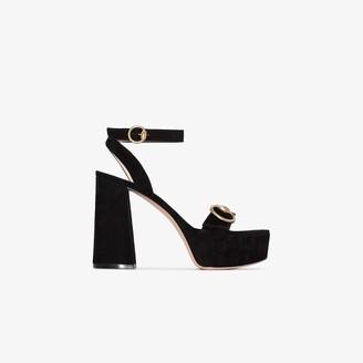 Gianvito Rossi Black 70 Buckled platform heels