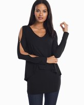 White House Black Market Slit Sleeve Double Layer Tunic