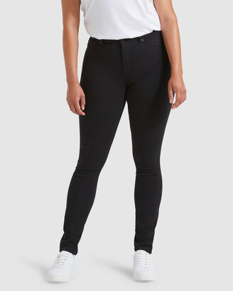 Jeanswest Women's Black Skinny - Tummy Trimmer Skinny Jeans Black Night - Size One Size, 10 Regular at The Iconic