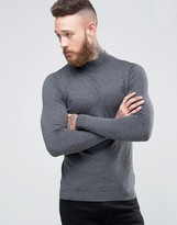 Asos Turtle Neck Jumper In Muscle Fit