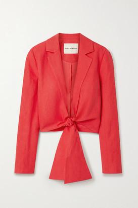 Mara Hoffman + Net Sustain Catalina Tie-front Tencel And Linen-blend Jacket - Red