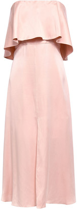Zimmermann Strapless Layered Washed-silk Midi Dress
