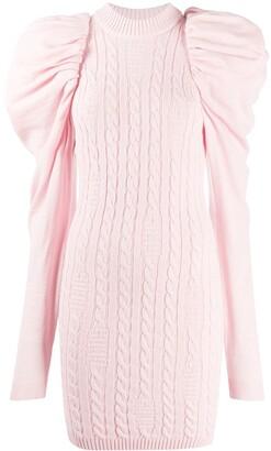 GCDS Oversized-Shoulder Jumper Dress
