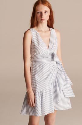 Rebecca Taylor Pinstripe Wrap Dress