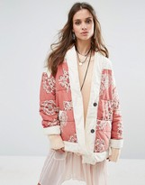 Free People Printed Poplin Quilted Jacket