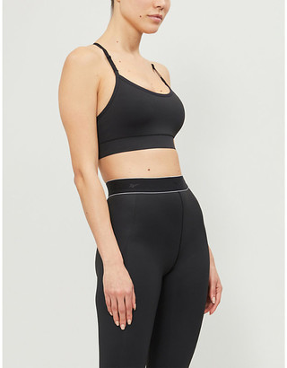 Reebok x Victoria Beckham Adjustable stretch-jersey sports bra