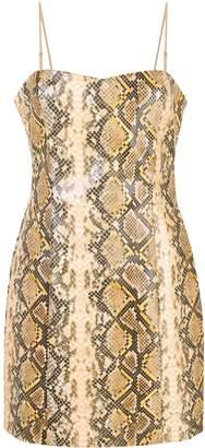 LIKELY snake-effect mini dress