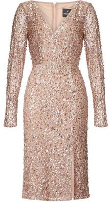 Adrianna Papell Beaded Wrap Dress