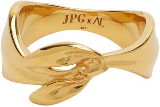 Jean Paul Gaultier SSENSE Exclusive Gold Alan Crocetti Edition Bandana Ring