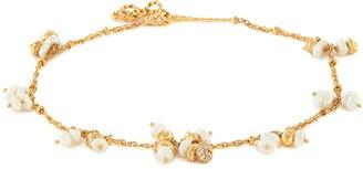 Joanna Laura Constantine Mini pearl tassel ankle bracelet