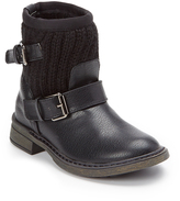 Volatile Black Buckle-Accent Boot