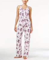 Alfani Tank Top and Pants Printed Knit Pajama Set, Only at Macy's