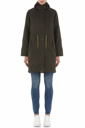 Armani Exchange Women's Layered Drawstring Hooded Coat