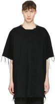 Marques Almeida Black Denim T-shirt