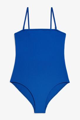 Monki Removable straps swimsuit