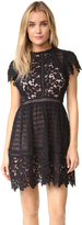 Rebecca Taylor Short Sleeve Lace Mix Dress