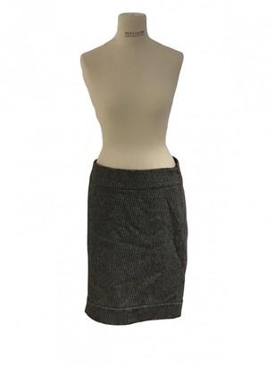 CNC Costume National Grey Wool Skirt for Women