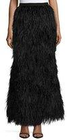 Haute Hippie Feathered Mermaid Skirt, Black