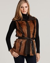 Lafayette 148 New York Long Hair Fur Reversible Vest