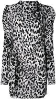 Saint Laurent asymmetric leopard print dress - women - Silk - 40