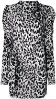 Saint Laurent asymmetric leopard print dress