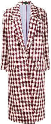 Jejia Tartan Check Cocoon Coat