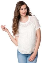 A Pea in the Pod Burnout Maternity Blouse